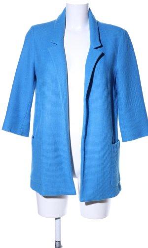 Zara Basic Lange blazer blauw casual uitstraling