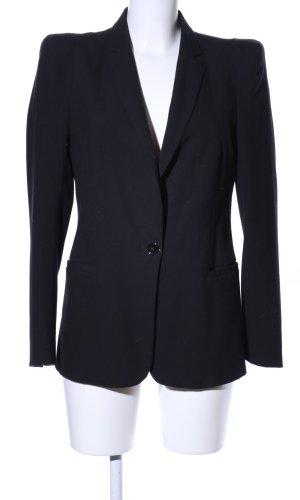 Zara Basic Lange blazer zwart casual uitstraling