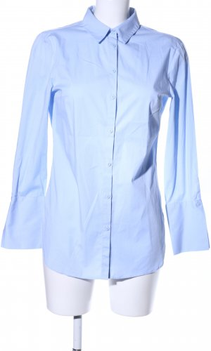 Zara Basic Lange blouse blauw zakelijke stijl