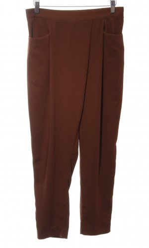 Zara Basic Stoffhose braun schlichter Stil