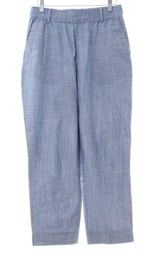 Zara Basic Stoffhose blau Allover-Druck Casual-Look