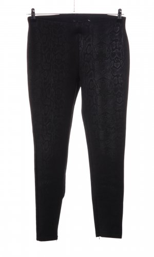Zara Basic Pantalón elástico negro estampado repetido sobre toda la superficie