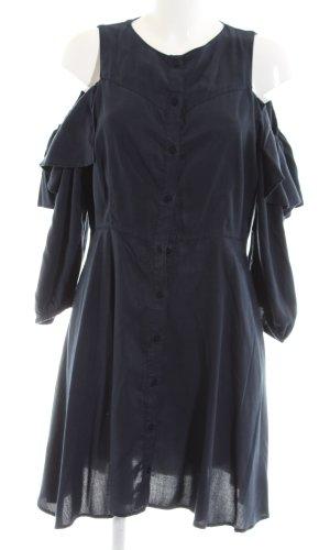 Zara Basic Volantkleid blau Casual-Look
