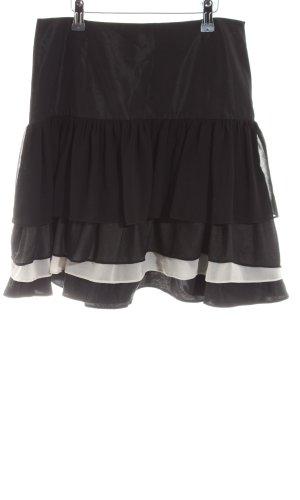 Zara Basic Volanten rok zwart-wit zakelijke stijl