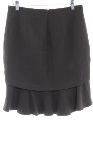 Zara Basic Volanten rok groen-grijs casual uitstraling