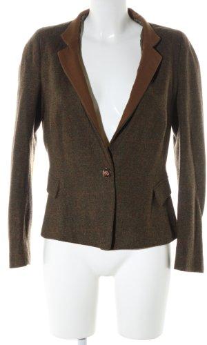 Zara Basic Wollen blazer brons-khaki geruite print zakelijke stijl