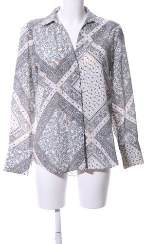 Zara Langarm-Bluse abstraktes Muster Business-Look