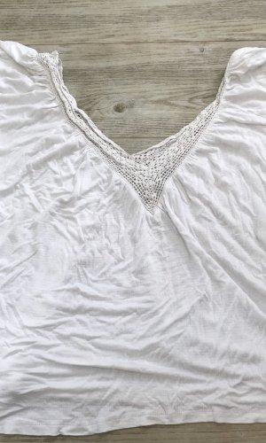 Zara Woman Gehaakt shirt wit