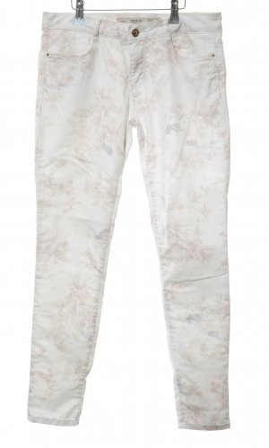 Zara Skinny Jeans Allover-Druck Casual-Look