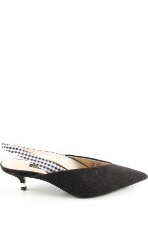 Zara Escarpin à bride arrière noir style d'affaires