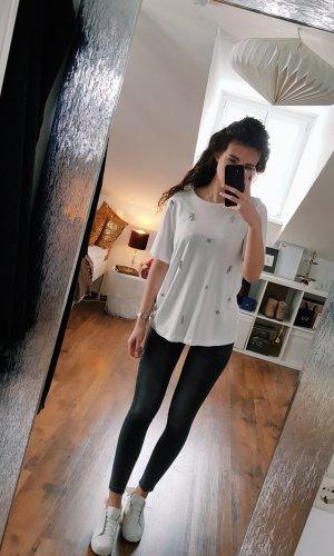 Zara T-Shirt mit Schmucksteine