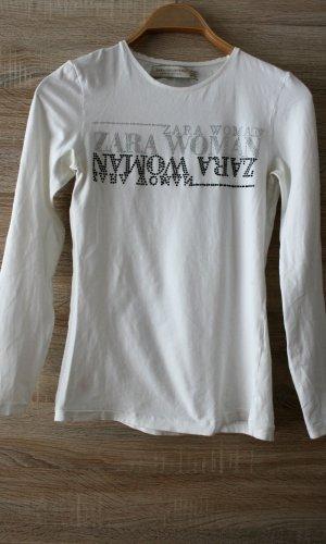 ZARA T-Shirt mit Steine Gr. S