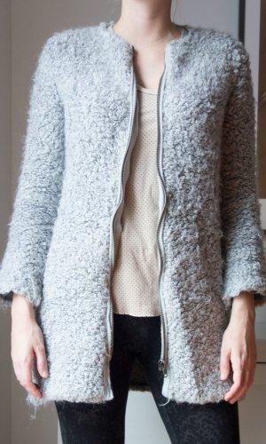 Zara Chaleco de punto largo gris claro Acrílico