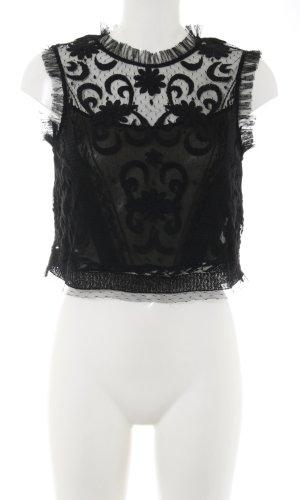 Zara Trafaluc Kanten topje zwart elegant