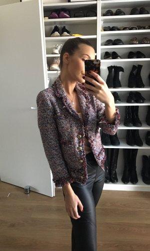 Zara Tweed Jacke im Chanel Stil