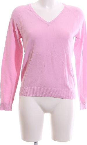 Zara V-Ausschnitt-Pullover pink Casual-Look
