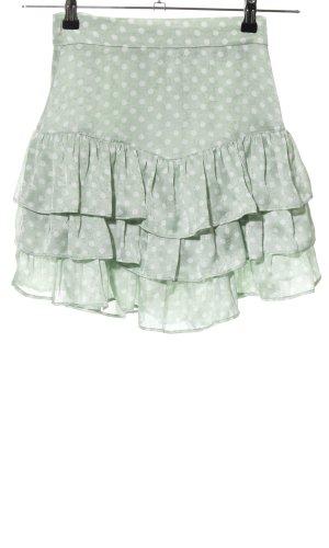 Zara Volanten rok khaki-wolwit gestippeld patroon casual uitstraling