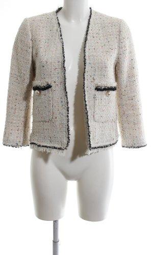 Zara Woman Kurzjacke wollweiß-schwarz Business-Look