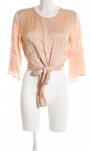 Zara Woman Langarm-Bluse apricot-beige Elegant