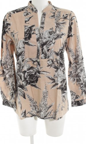 Zara Woman Langarm-Bluse Allover-Druck Business-Look