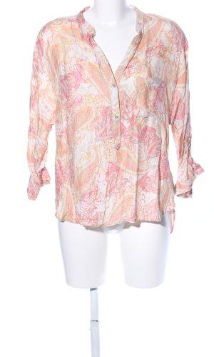 Zara Woman Langarm-Bluse abstraktes Muster Casual-Look