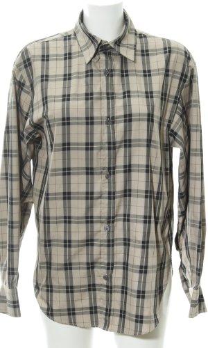 Zara Woman Langarm-Bluse Karomuster schlichter Stil