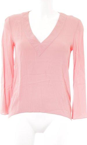 Zara Woman Langarm-Bluse lachs Casual-Look