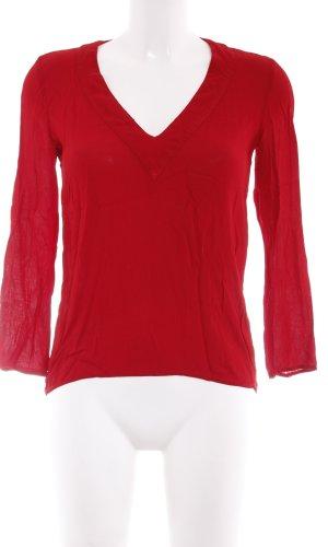 Zara Woman Langarm-Bluse mehrfarbig Business-Look