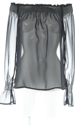Zara Woman Langarm-Bluse schwarz Paris-Look