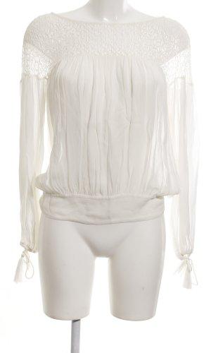 Zara Woman Langarm-Bluse weiß schlichter Stil