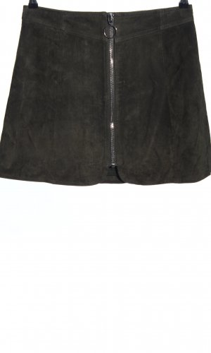 Zara Woman Lederrock schwarz Casual-Look