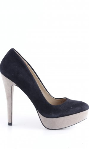 Zara Woman Plateauzool pumps zwart zakelijke stijl