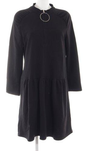 Zara Woman Sweaterjurk zwart casual uitstraling