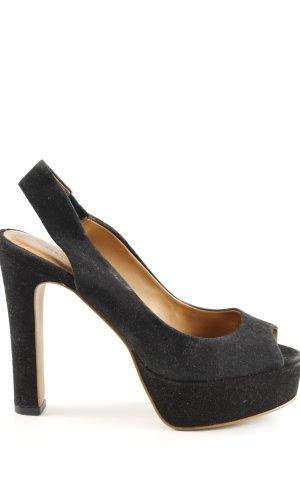 Zara Woman Escarpin à bride arrière noir élégant