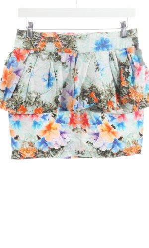 Zara Woman Volanten rok bloemenprint romantische stijl