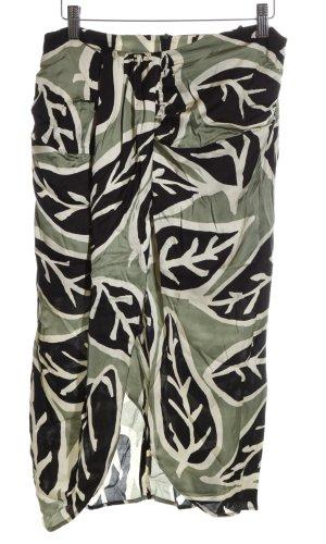 Zara Woman Bandeaujurk volledige print casual uitstraling