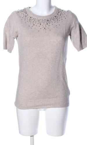 ZARAKNIT Sweater met korte mouwen room gestippeld casual uitstraling