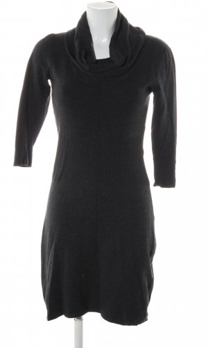 Zero Sweaterjurk zwart gestippeld casual uitstraling