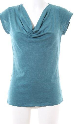 Zero Waterval shirt turkoois volledige print casual uitstraling