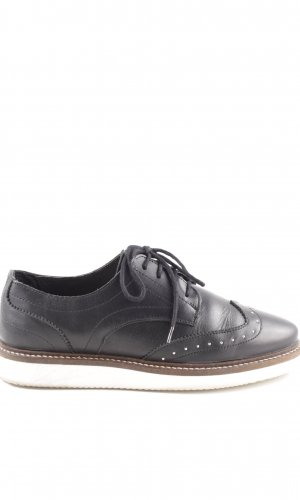 Zign Zapatos estilo Richelieu negro-blanco look casual