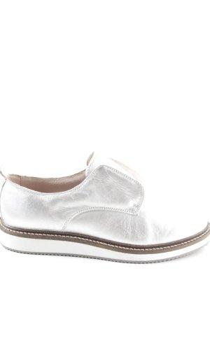 Zign Zapatos estilo Richelieu color plata-marrón look casual