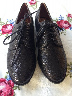 Buffalo Glitzer Schnürer Schuhe Halbschuhe, 38