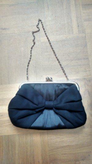 Clutch Handtasche Tasche schwarz bow Bändchen Accessorize Hochzeit Abibal
