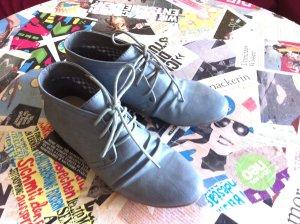 Coole graue Lederschuhe knöchelhoch Gr.39 von Street Super Shoes