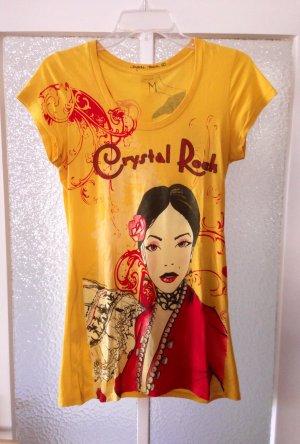 Crystal Rock Christian Audigier Shirt M Heidi Klum