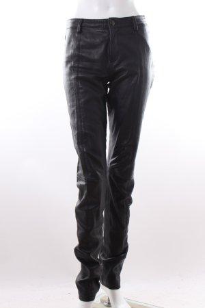 Diesel Lederhose schwarz