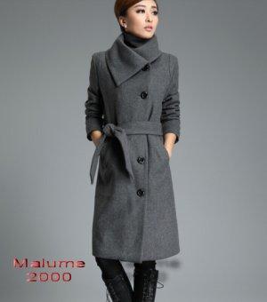 Eleganter Mantel große Knöpfe mit Gürtel