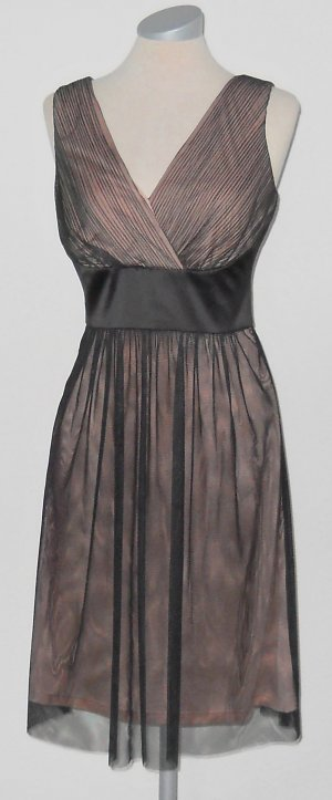 Esprit Abendkleid nude schwarz Gr. 36 S neu Chiffon Hochzeit gothic Abiball