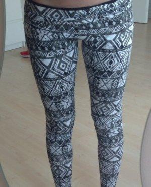 grau-weiße H&M Leggings