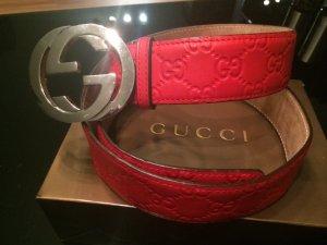 Gucci Leder Gürtel gross 85 32
